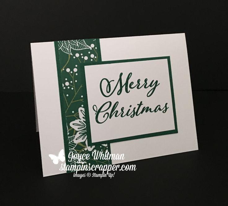Ich liebe schnelle, einfache und auffällige Weihnachtskarten. Ich habe das Under the Mistletoe d …   – Card Ideas!