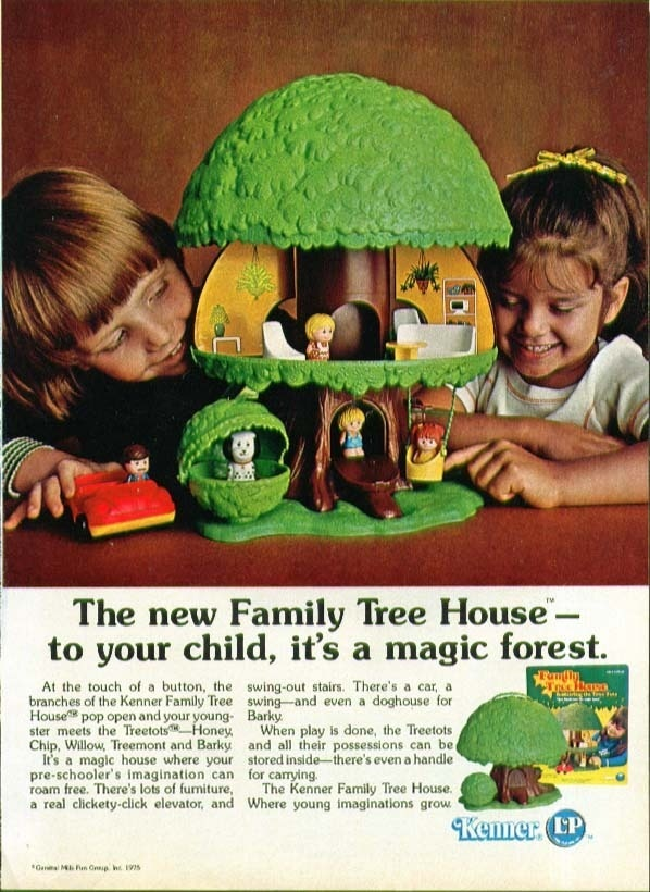 Kenner Treehouse Part - 19: Kenner Family Tree House A Magic Forest Ad 1975 - This Was My Most Favorite  Toy Growing Up