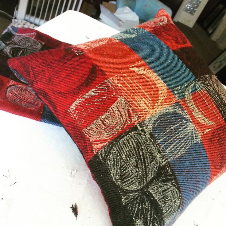 Block printing on furnishing fabric, creates individual looks that no one else will have in their home!