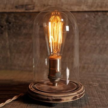 Table Lamp: Bell Jars, Southern Lights, Jar Table, Table Lamps, Idea, Original Bell, Lighting