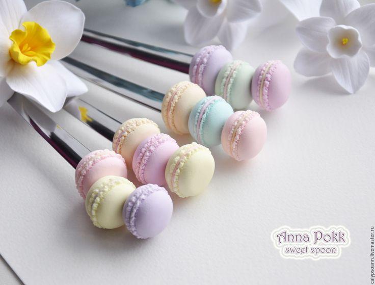 """Купить Вкусные ложки """"Macarons"""" - комбинированный, вкусные ложки, сладкие ложки, макаруны, Макарун, ложки"""