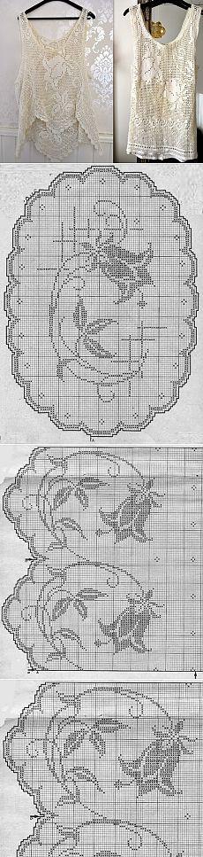 Inspirações de Croche com Herhangi Lucy: Tunica