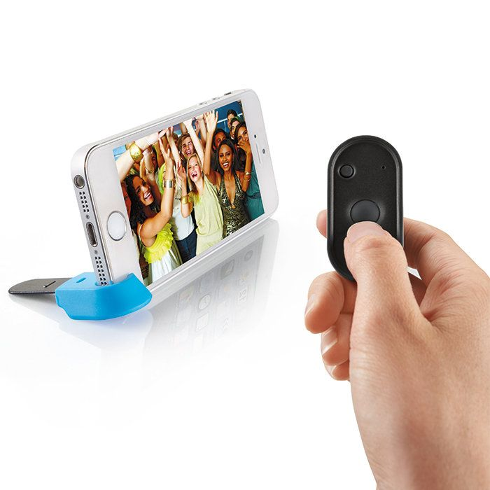 Brookstone Selfie  Wireless Remote Shutter (up to 33 ft) for iPhone  and Android  Devices