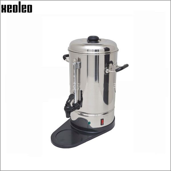 196.00$  Watch here - http://alid28.worldwells.pw/go.php?t=32528153223 - Xeoleo Commercial Coffee boiler 6/10/15L  Stainless steel Pop Coffee maker Electric Coffee machine Water machine Water boiler