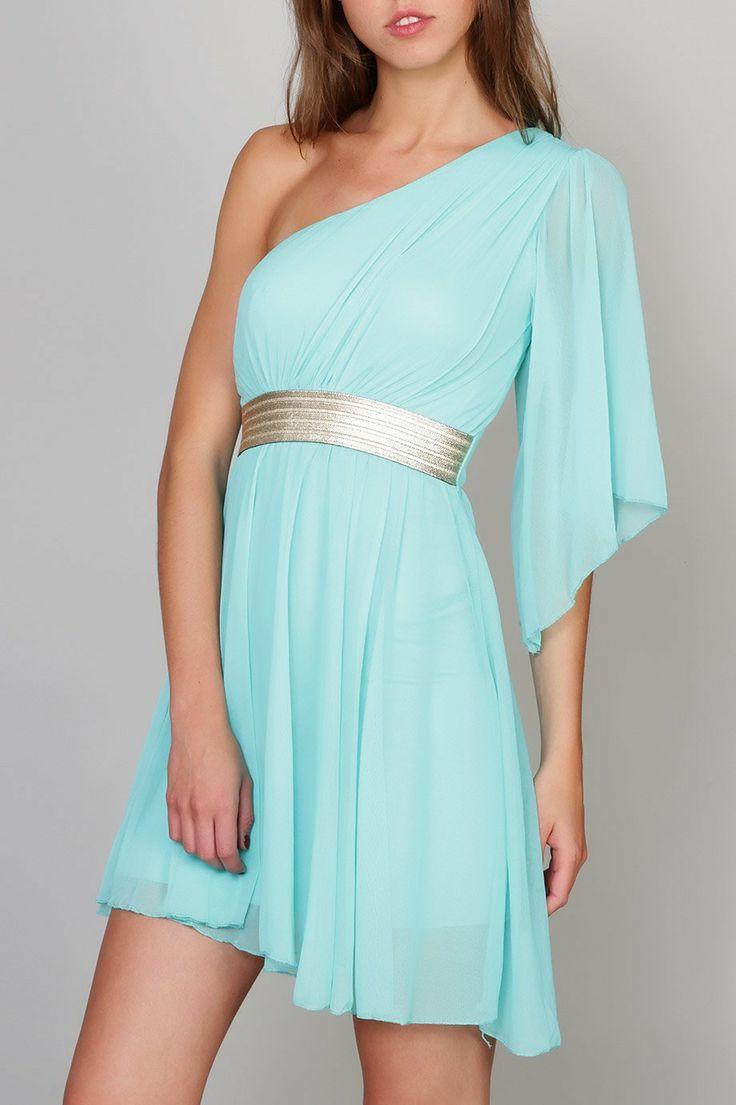 Vestido estilo griego asimétrico de Erikch