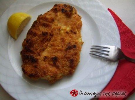 Σνίτσελ  κοτόπουλο με μαγιονέζα  στο γκρίλ