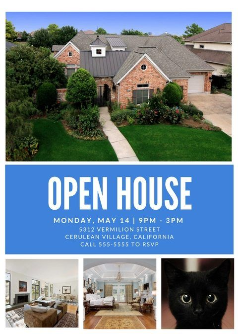open house flyer template canva