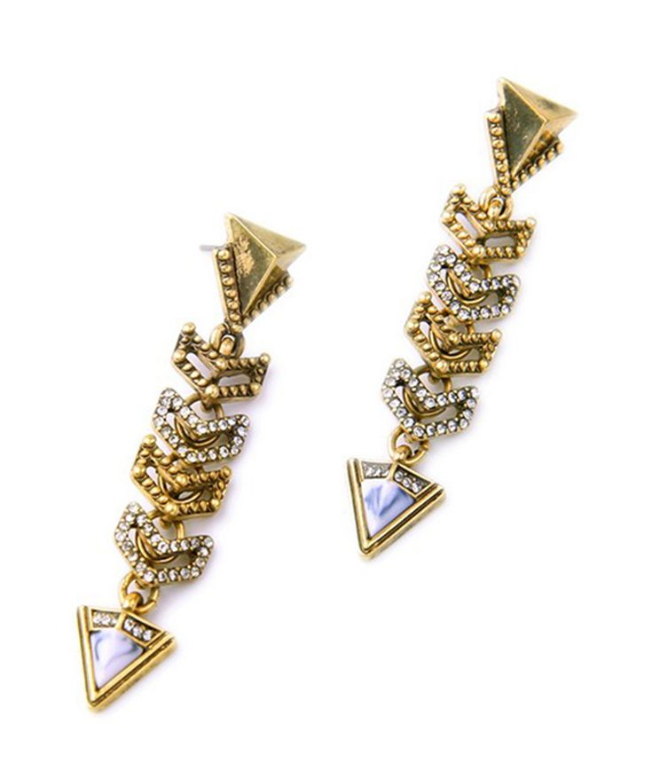 Fashion Jewelry : Arcadia Linear Earrings
