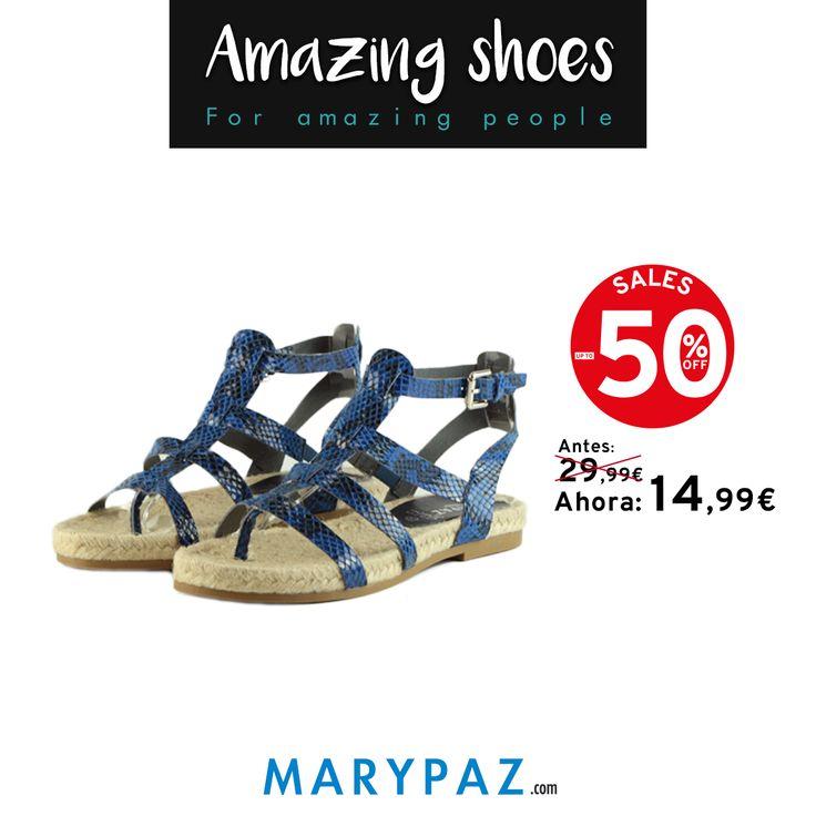 ¡ Ficha ya las alpargatas reptil AHORA al 50% dto. en las REBAJAS de MARYPAZ ! Visita tu tienda MARYPAZ más cercana o entra ya en nuestra Online Store y disfruta de hasta el 50% de descuento en muchos de nuestros productos !!! ¡ Disponibles en 7 colores ! #rebajas #sales #happyshopping #comprasfelices #shoesobssession #obsesionadaconloszapatos #obsesion #tendencias #locaporlamoda #springsummer #primaveraverano #SS16 #BFF #bestfashonablefriends Compra