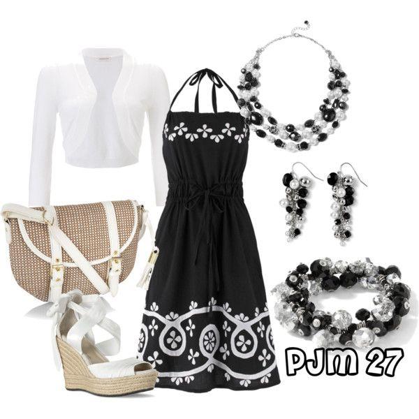 Outfit: Summer Dresses, Dreams Closet, Black Dresses, Black And White, Summer Parties, Black White, The Dresses, Fantasy Closet, Dresses Codes