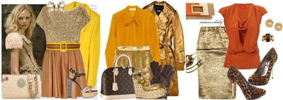 желто-зеленое золотое в одежде