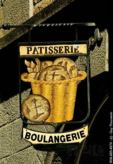 Baker's sign - St. Malo, Brittany, France.  ASPEN CREEK TRAVEL - karen@aspencreektravel.com