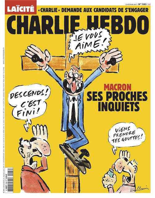 #RADIOHERN: Une du Charlie Hebdo du 22 Février 2017 #Macron #CharlieHebdo