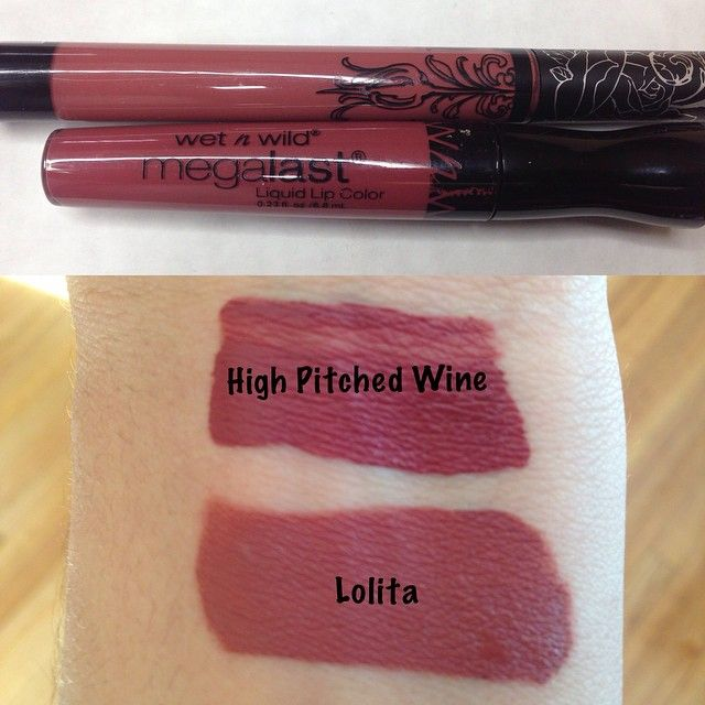 Here's the dupe I was talking about in my last picture! Wet N Wilds Mega Last Liquid Color in High-Pitched Wine as a dupe for Kat Von Ds famous Lolita. They both dry matte and look basically the same on the lips but I actually prefer the Wet N Wild color and you can't beat the $3 price tag compared to $20 (both are pretty drying on the lips and this picture was taken with no flash just natural lighting and no filter) @dupethat #dupealert #kyliejennerlips #90slips #kyliejennerlipcolor…