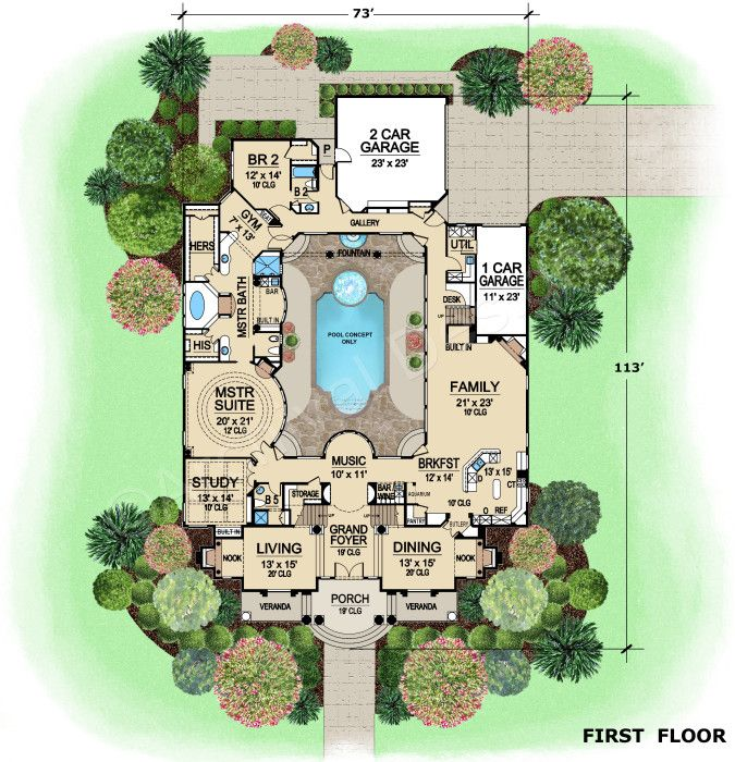 17 best images about arquitectura planos on pinterest for Best selling floor plans