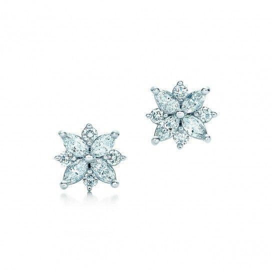 Orecchini a grappolo Tiffany & Co - Modello con diamanti taglio marquise tra gli orecchini Autunno/Inverno 2015/2016