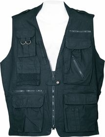 Humvee Safari Vest Black Large
