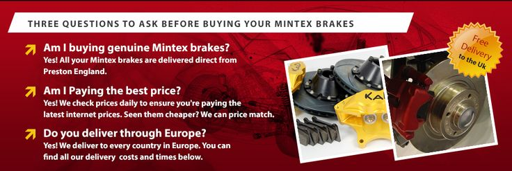 Look no further for your car brakes, as you can buy all your brakes online. Visait Mintexbrakeshop.co.uk