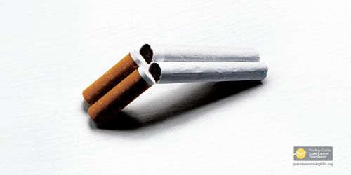 The-Roy-Castle-Lung-Cancer-Foundation-Passive-Smoking---Shotgun Remarkable Anti-Smoking Advertising Campaigns - 53 Examples