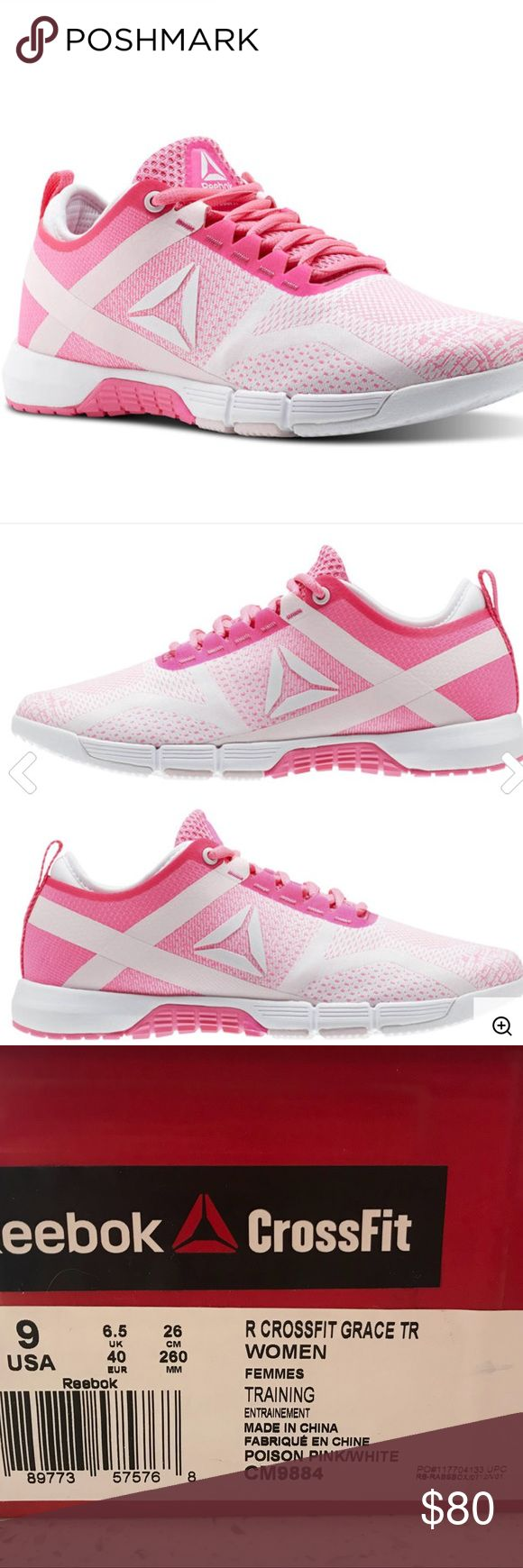 Reebok Crossfit Grace NWT NATURAL SHAPE FOR MOVEMENT Built for the women of the CrossFit community, the durable Reebok CrossFit Grace lets you fly through your workout with ultimate agility and breathability. Workout-tested, yet sleek in design, the Grace fits your look in and out of the gym. Reebok Shoes Sneakers