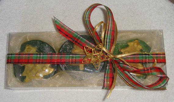 Christmas Gift Set, Green Christmas Luxury Glycerin Soap, Holiday Soap…