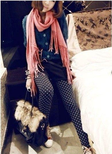 Зимние 2013 женские новые точки волна стрейч бархат леггинсы толстые колготки Сад Цветочные не падают - Taobao