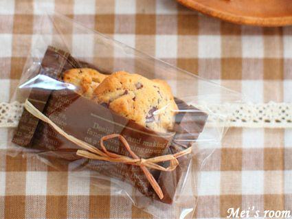 お菓子のラッピング/ドロップクッキー