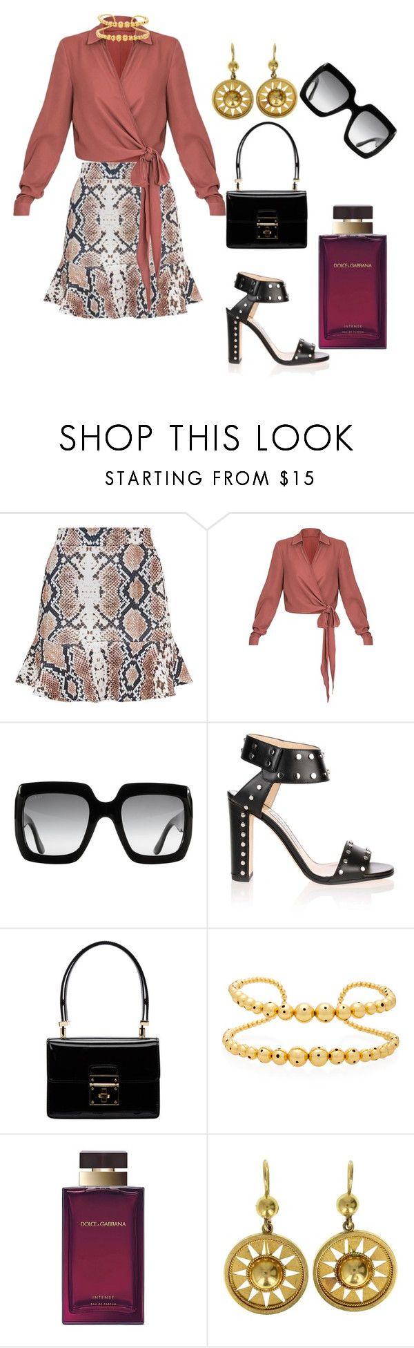 """fall fashions"" by creativegirl247 ❤ liked on Polyvore featuring Gucci, Jimmy Choo, Dolce&Gabbana and Paula Mendoza"