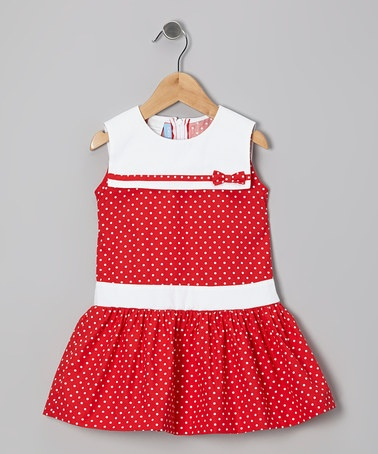 Take a look at this Red Polka Dot Sailor Dress - Toddler & Girls by Mondays Child on #zulily today!