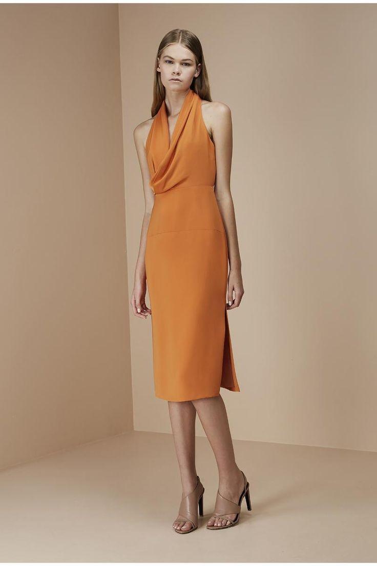 ESCAPE DRESS tangerine