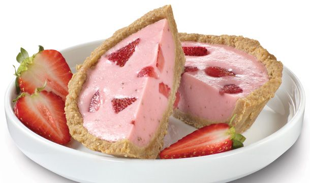 Pastel-frío-de-fresa