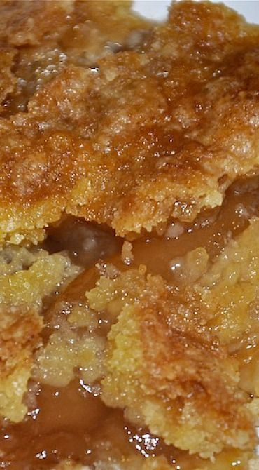 Caramel Apple Cobbler Using a Cake Mix