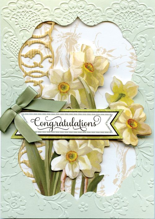 The Anna Griffin Garden Window Card Kit includes enough card surfaces, layers and embellishments to make 48 beautiful cards for every occasion. The kit features die cut window frames and layers that give you the feeling of peering through a garden window. It's springtime in a box!