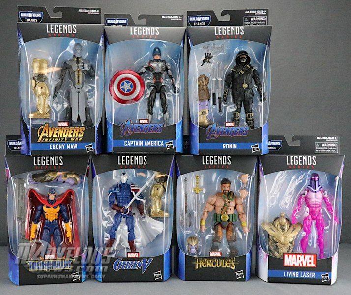 """Marvel Legends 6/"""" Avengers Endgame Wave 1 Set of 7 ARMOURED THANOS BAF"""
