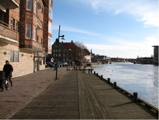 A walk by the river Gamlebyen in Fredrikstad, Norway. More photos: Fredrikstad pl