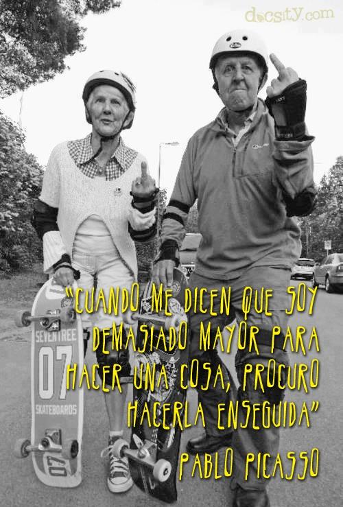 """#cita """"Cuando me dicen que soy demasiado mayor para hacer una cosa, procuro hacerlo enseguida"""" Pablo #Picasso #quote"""