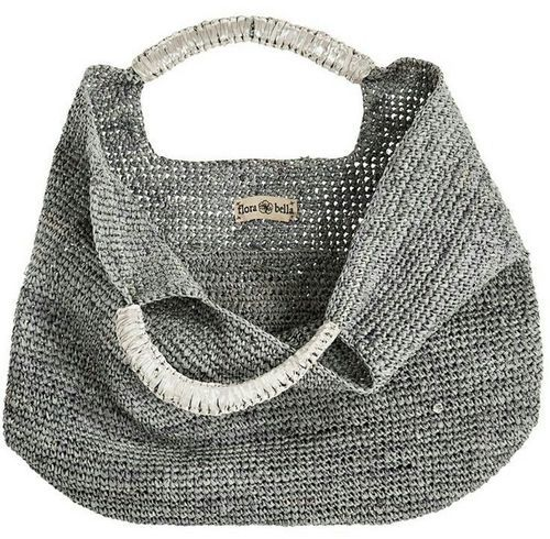 Flora Bella, Crochet Raffia Leather Tote | Piajeh Boutique