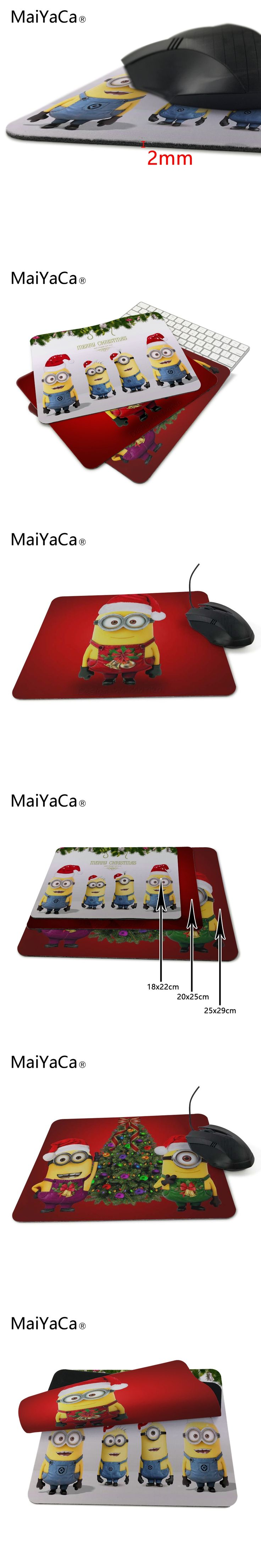 Hot stunning minions christmas minion wallpaper 18x22cm and 25x29cm size mouse pad Table mats are slippe Children love Gift