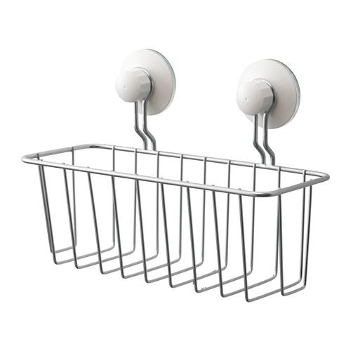 IMMELN Shower basket IKEA Includes suction cups that grip smooth surfaces such as glass, mirrors and tiles.
