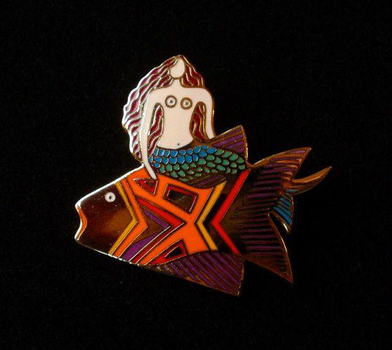 LAUREL BURCH Sea Goddess Pin Brooch