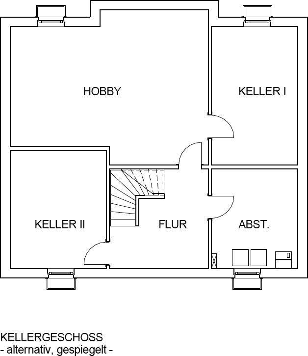 Das Landhaus Kellergeschoss als Variante beim Bau mit einem Keller