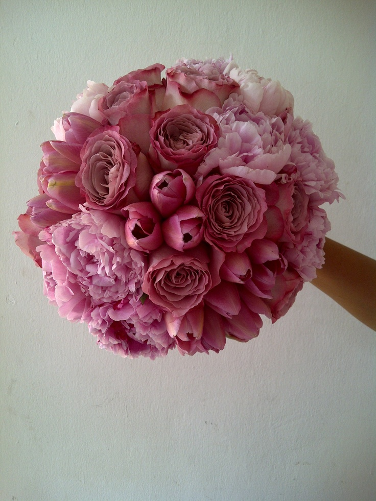 dusty pink bouquet