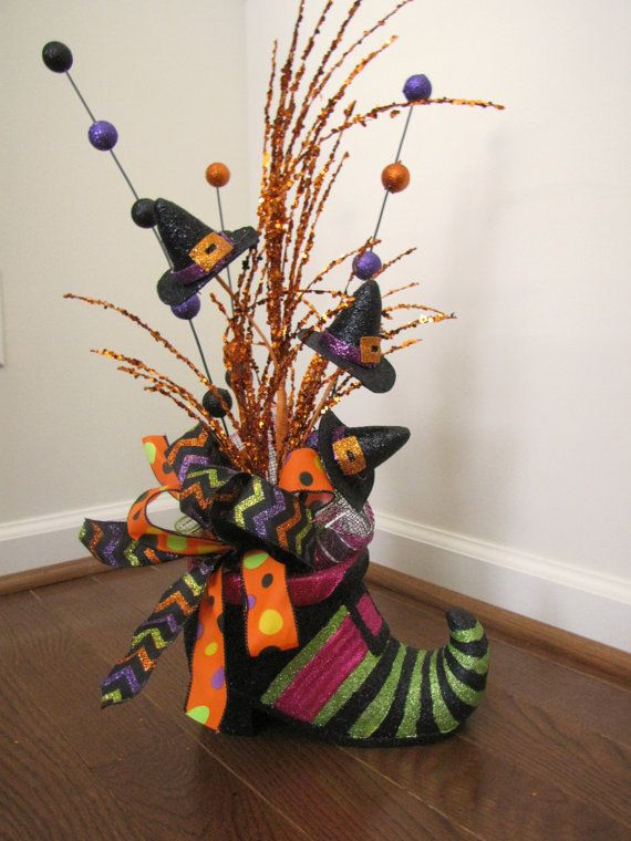 Witch Shoe Halloween Table Decoration Witch Hat Decoration