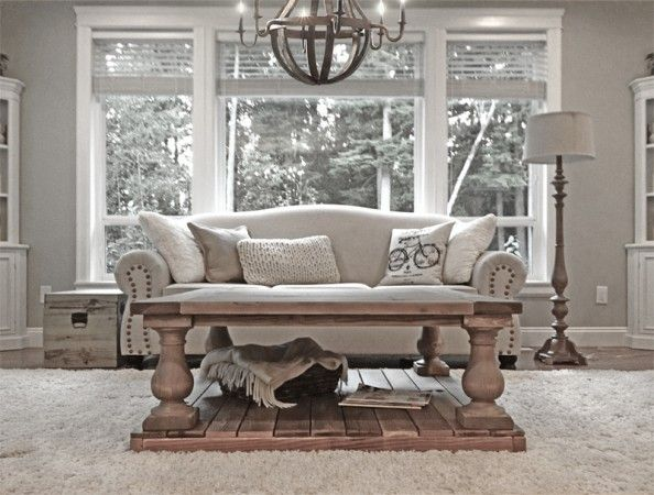 Rh balustrade coffee table do it yourself home projects from ana white living room tutorials Do it yourself coffee table