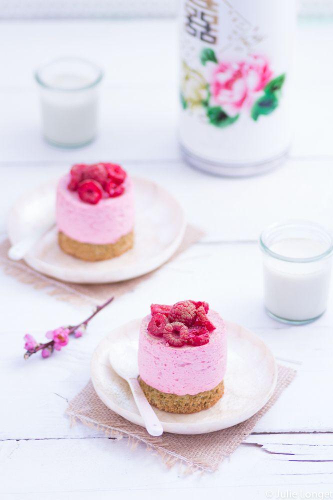 Bavarois pistaches/framboises Pour recette dacquoise, remplacer sucre par sirop d'agave ou fructose