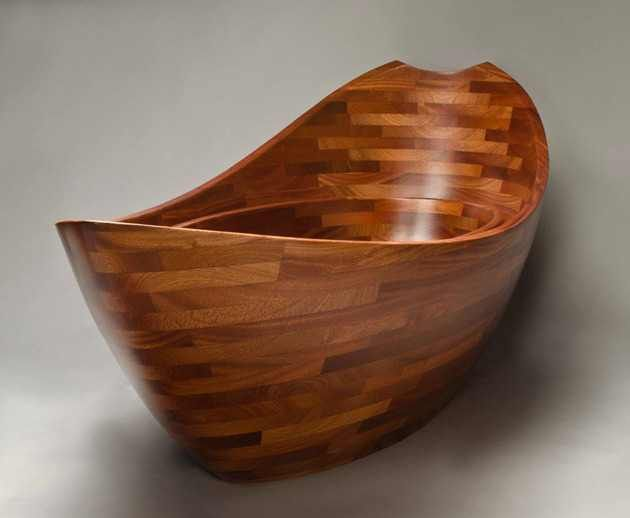 Wooden Bathtub - Salish Sea
