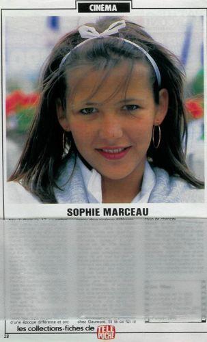 Sophie Marceau / 1985 / Fiche / 1p. / Coupure de presse, clipping