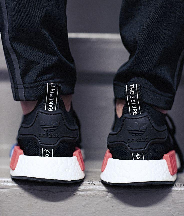 Adidas nmd runner grigio e rosa trapunta di formatori.
