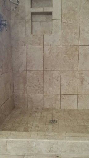 Replaced Shower Insert With Tile 2x2 Shower Floor And