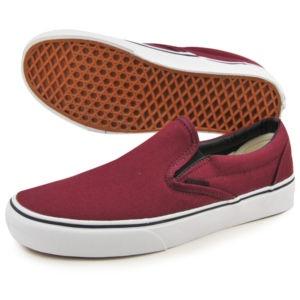 Vans Maroon Slip Ons
